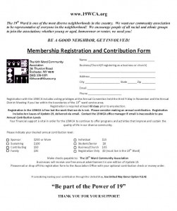 New Membership Registration Form 2015